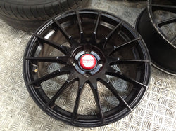17'' Fox FX004 Alloy wheels black ford fiesta st alloys