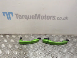 2012 Corsa D VXR Exterior door grab hadles green pair