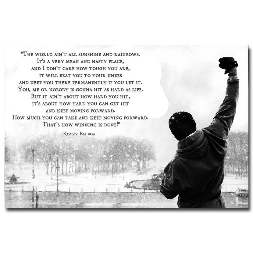 ROCKY BALBOA - Motivational Quote - inspirationalShirtclub