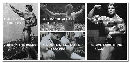 Arnold Schwarzenegger Bodybuilding Motivational Quotes Poster Art  Fitness Pictures for Decor inspiration