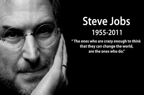 Steve Jobs Famous- With DIY frame option - inspirationalShirtclub