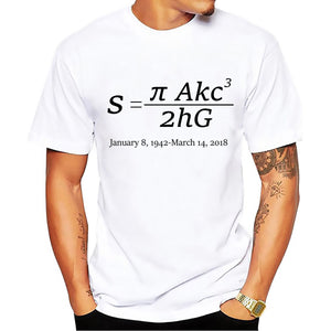 Sign and formula of Stephen Hawking T-Shirt men
