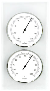 Cellar Thermometer & Hygrometer with frosted glass backing