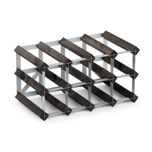12 Bottle Assembled Traditional Wine Rack - 228mm depth
