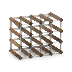 16 Bottle Assembled Traditional Wine Rack - 228mm depth