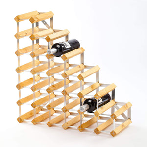 27 Bottle Under Stairs Traditional Wine Rack - 228mm depth