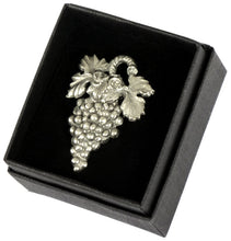 Large Grape Sommelier Pin - Pewter