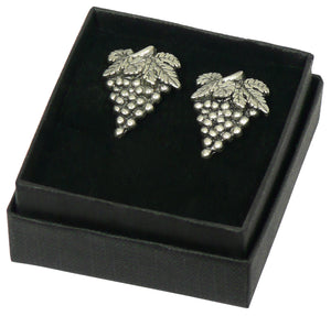 Small Grape Cufflinks - Pewter