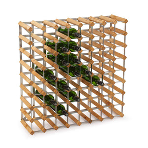 72 Bottle Assembled Traditional Wine Rack - 228mm depth