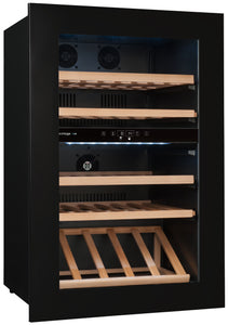 AVI48PREMIUM 2-Zone Built-in Column Wine Cabinet