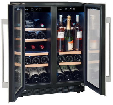 Avintage AVU41SXDPA 2-compartments service wine cabinet. Built in under counter.