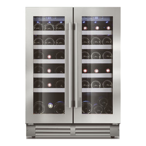 Le Chai LSB380, 2-Zone 'Built-in under-worktop' Wine Cabinet