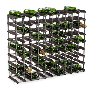 90 Bottle Assembled Traditional Wine Rack - 228mm depth