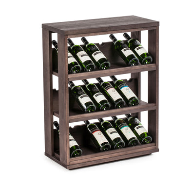 18 Bottle Angled Display Modular Wine Storage Unit