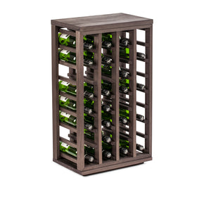 Burnt Oak Wine Rack