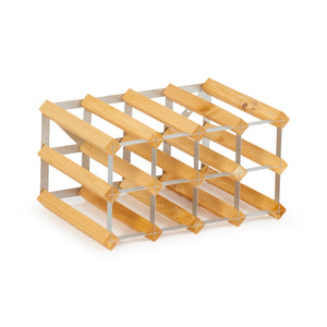 12 Bottle Assembled Traditional Wine Rack - 300mm depth