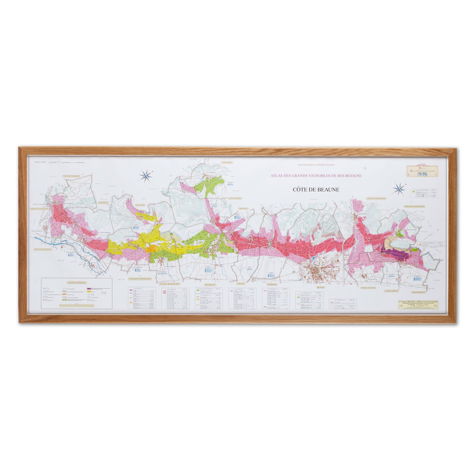 Burgundy Region Vineyard Maps C 244 Te D Or 2 Map Set