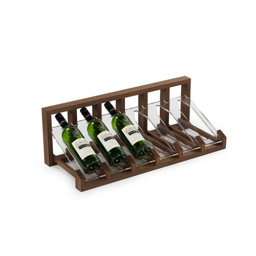 Redwood and Acrylic Table/Counter Top Wine Display Rack