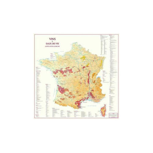 Wines & Spirits of France Map