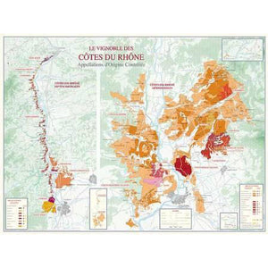 Vineyards of the Cotes-du-Rhone Map