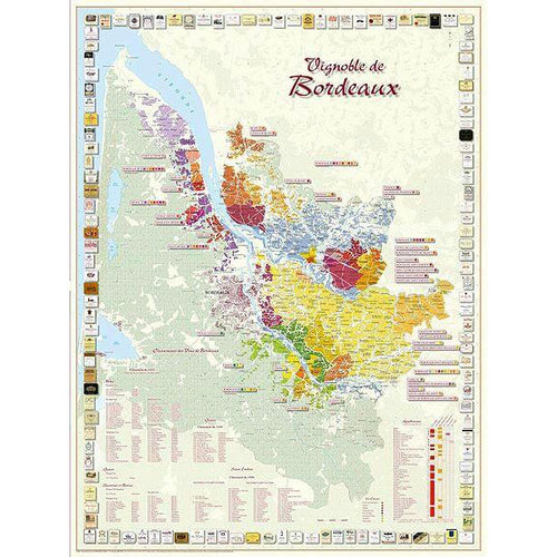 Vineyards of Bordeaux Map