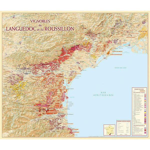 Vineyards of Languedoc-Roussillon Map