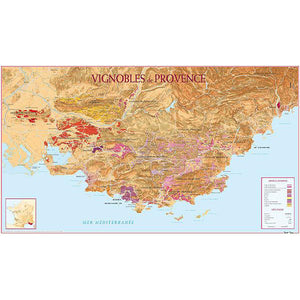 Vineyards of Provence Map