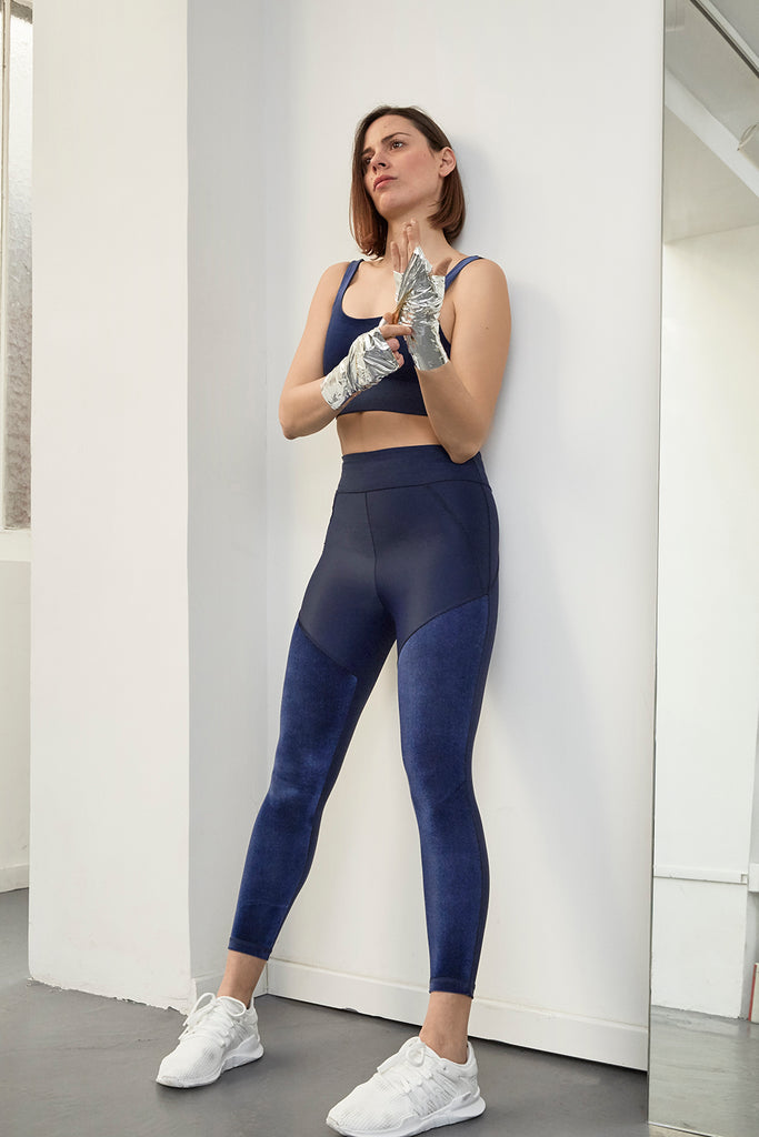 LEGGINGS LUNE BLEU