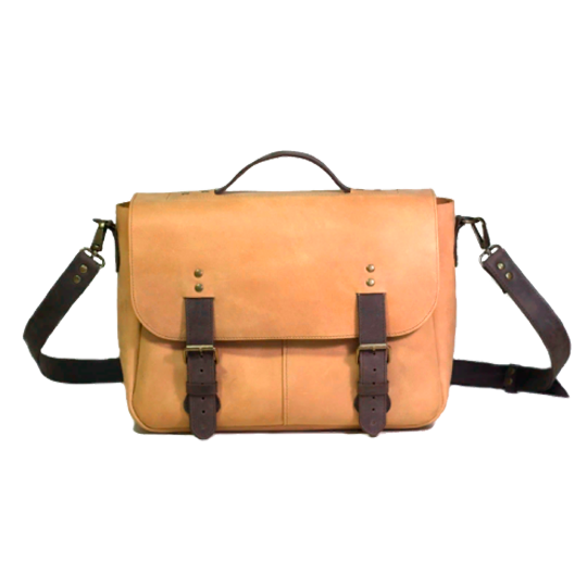Full Grain Leather Messenger Bag - Cantoneri