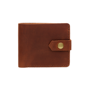 Bifold Leather Wallet [Cognac]