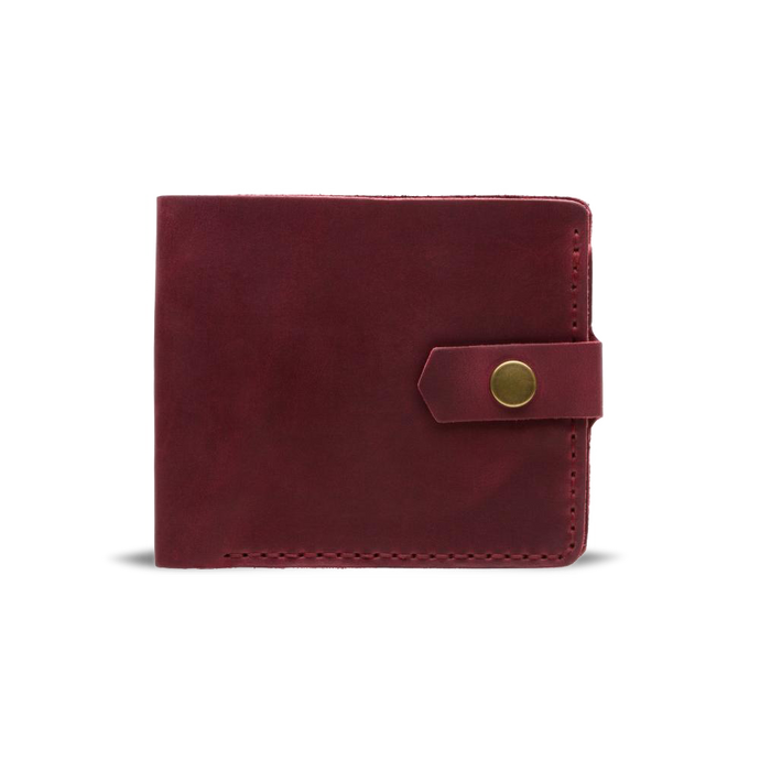 Handmade Bifold Leather Wallet - Marsala - Cantoneri