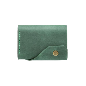 Green Triple Leather Mini Wallet - Cantoneri