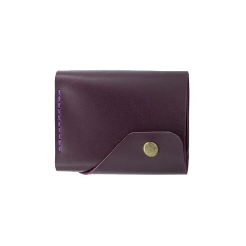 Glossy Marsala Triple Leather Mini Wallet - Cantoneri