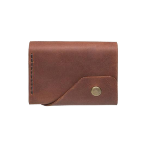 Brandy Triple Leather Mini Wallet - Cantoneri