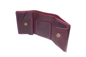 Marsala Triple Leather Mini Wallet - Cantoneri