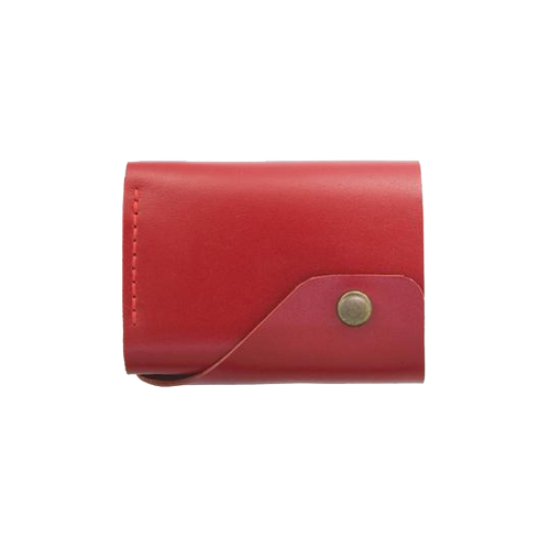 Glossy Red Triple Leather Mini Wallet - Cantoneri