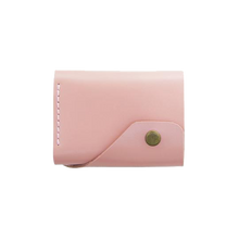 Glossy Pink Triple Leather Mini Wallet - Cantoneri