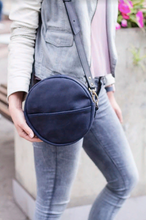 Full Grain Leather Round Bag - Cantoneri