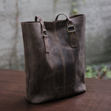 Full Grain Leather Tote Bag - Cantoneri