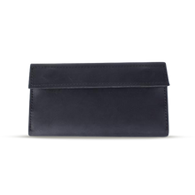 Men's Long Bifold Wallet in Black Leather - Cantoneri
