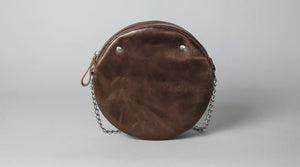 Yellow Leather Circle Bag - Cantoneri