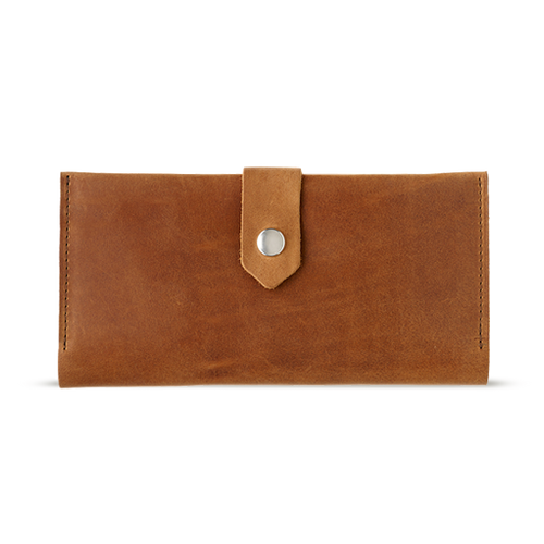 Women's Light Brown Bifold Leather Wallet - 12 compartments - Cantoneri