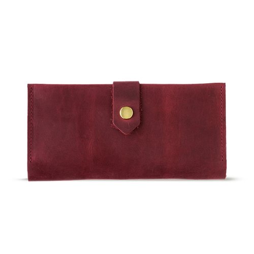 Women's Marsala Bifold Leather Wallet - 12 compartments - Cantoneri