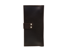 Women's Dark Brown Bifold Leather Wallet - 12 compartments - Cantoneri