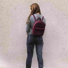 Stylish Mini Leather Backpack [Marsala] - Cantoneri