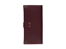 Women's Glossy Marsala Bifold Leather Wallet - Cantoneri