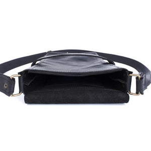 Leather Satchel [Black] - Cantoneri