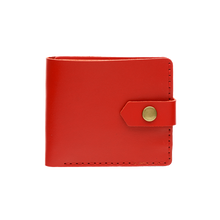 Bifold Leather Wallet [Glossy Red]