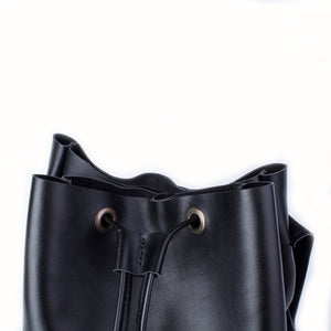 Women's Leather Backpack [Black] - Cantoneri