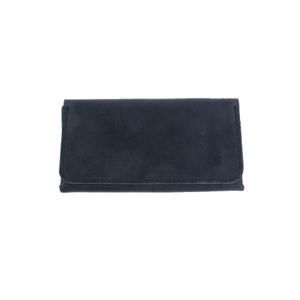 Women's Long Wallet in Black Leather - Cantoneri